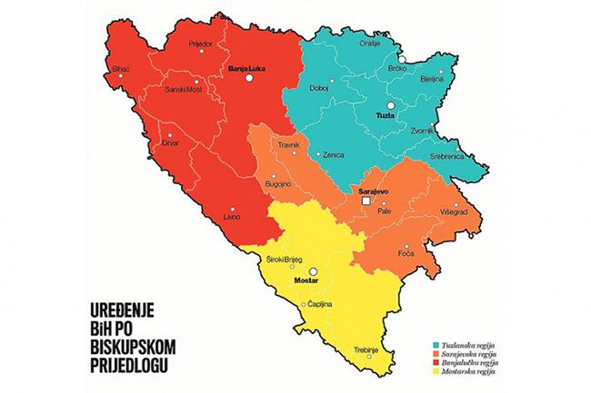 Динамит: католички бискупи предлажу укидање Српске и ФБиХ и формирање четири регије
