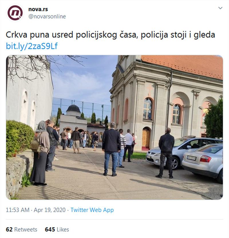 Антонић: Аутошовинистичка хистерија за Васкрс са хорским денунцирањем православаца